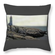 Atlantic Lighthouse Throw Pillow