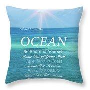 Atlantic Ocean Throw Pillow
