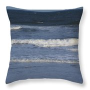 Atlantic Ocean Gradient Throw Pillow