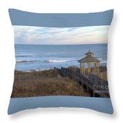 Atlantic Ocean Nc Throw Pillow