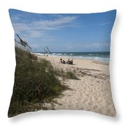 Atlantic Ocean On The East Central Coast Of Florida Throw Pillow