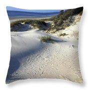 Atlantic Ocean Sand Dunes Throw Pillow