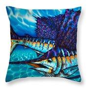 Atlantic Sailfish Throw Pillow