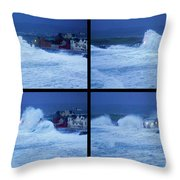 Atlantic Storm Hitting Lahinch Throw Pillow