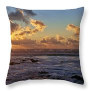 Atlantic Sunset Throw Pillow