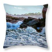 Atlantic Waves 2 Throw Pillow