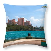 Atlantis Across The Harbor Throw Pillow