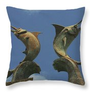 Atlantis Swordfish Throw Pillow