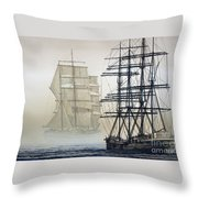Atlas And Inverclyde Throw Pillow by James Williamson