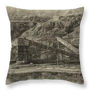 Atlas Coal Mine Throw Pillow