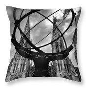 Atlas Holding The Heavens Throw Pillow