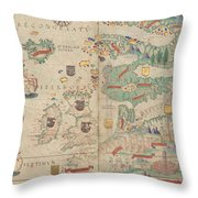 Atlas Miller Nautical Atlas Throw Pillow