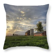 Atmosphere And Alfalfa - Larimer County, Colorado Throw Pillow