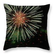 Atom Burst Throw Pillow