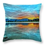Atom  Throw Pillow by Eric Dee