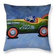 Atom Racer  Throw Pillow