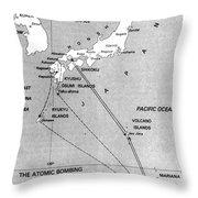 Atomic Bombing Of Japan, 1945 Throw Pillow