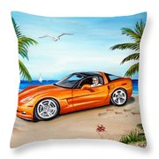 Atomic Orange Throw Pillow