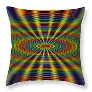 Atomic Rainbow Throw Pillow