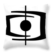 Atomic Shape 1  Throw Pillow