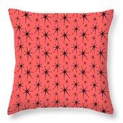 Atomic Starbursts Mini Throw Pillow by Donna Mibus