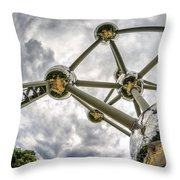 Atomium 3 Throw Pillow