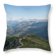 Atop Of Mount Healy  Throw Pillow by Michael Ver Sprill