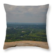 Atop Of Stone Mountain Throw Pillow