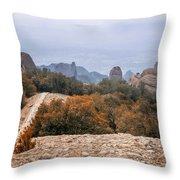 Atop Sant Jeroni Throw Pillow