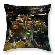 Atop The Ferris Wheel Throw Pillow