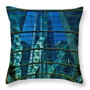 Atrium Gm Building Detroit Throw Pillow