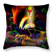 Atrium Outburst Angel Throw Pillow