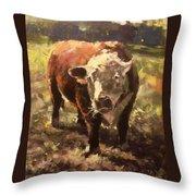 Atsa Lotta Bull Throw Pillow