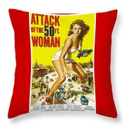 Attack Of The 50 Ft. Woman Poster Throw Pillow