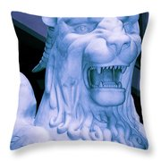 Attack Of The Gryphon Throw Pillow