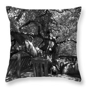 Attack Of The Oak Throw Pillow
