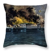 Attack On Fort Sumter Throw Pillow