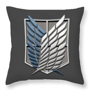 Attack On Titan Survey Corps Throw Pillow