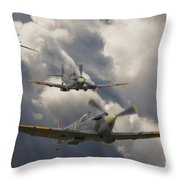 Attack Out Of The Sun Throw Pillow