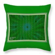 Attempt L A With Decorative Ornate Printed Frame. Throw Pillow