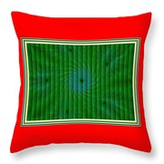 Attempt L B With Decorative Ornate Printed Frame. Throw Pillow