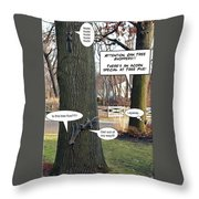 Attention Oak Tree Shoppers Throw Pillow