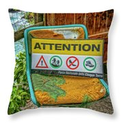 Attention Vernazza Trail Head Italy Dsc02657 Throw Pillow