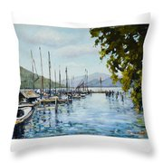 Attersee Austria Throw Pillow