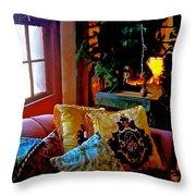 Barn Attic Rummage Sale Throw Pillow