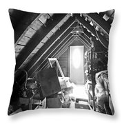 Attic Space Bw Throw Pillow