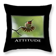 Attitude Inspirational Motivational Poster Art Throw Pillow by Christina Rollo