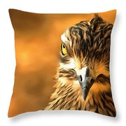 Attitude...with Feathers Throw Pillow