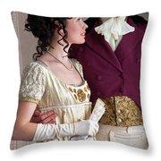 Attractive Regency Couple Throw Pillow