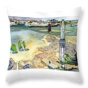 Au Bord De La Mer, La Rochelle, Charente-maritimes Throw Pillow